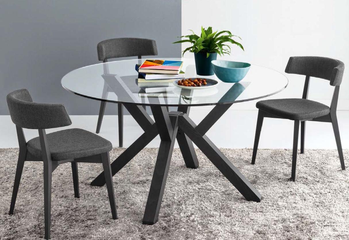 contemporary table / glass / round - mikado - olivo & godeassi