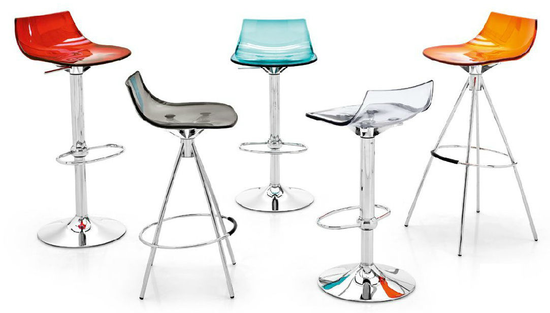 Contemporary Bar Stool Metal Swivel Adjule