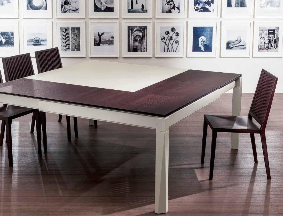 Contemporary table / wooden / rectangular / extending - PLURIMO ...