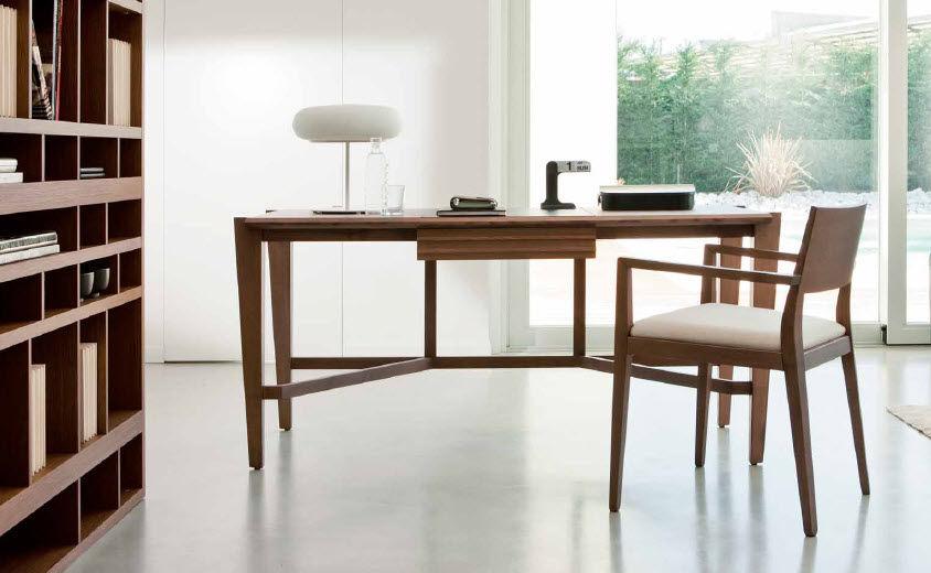 Wooden desk / contemporary - ATHOS - Pacini & Cappellini