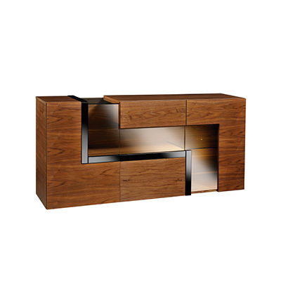 Contemporary Sideboard Wooden With Glass Panel Catania Paged