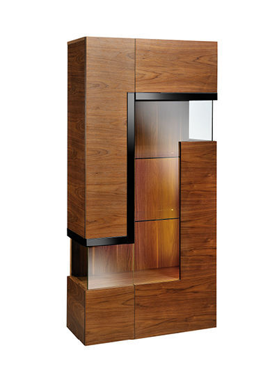 Contemporary Display Case With Legs Glass Catania Paged Meble