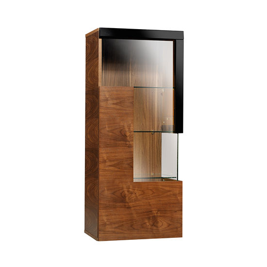Contemporary Display Case With Legs Glass Low Catania