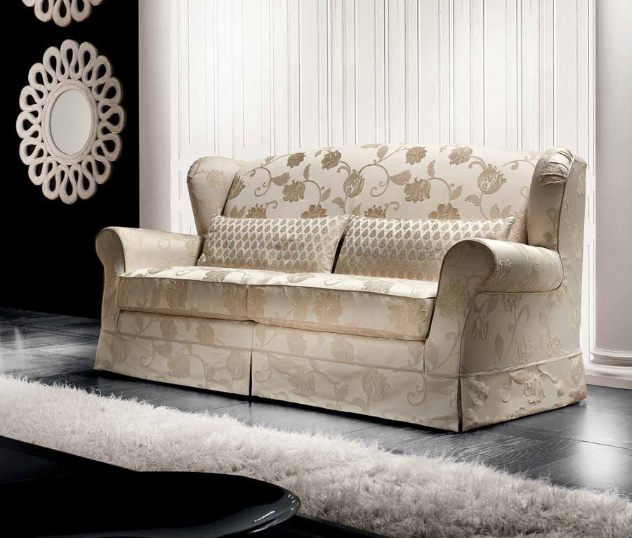 Traditional sofa / cottage style / fabric / 2-person - MOON - Cava