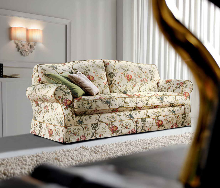Traditional sofa / cottage style / fabric / 2-person - PARIS - Cava