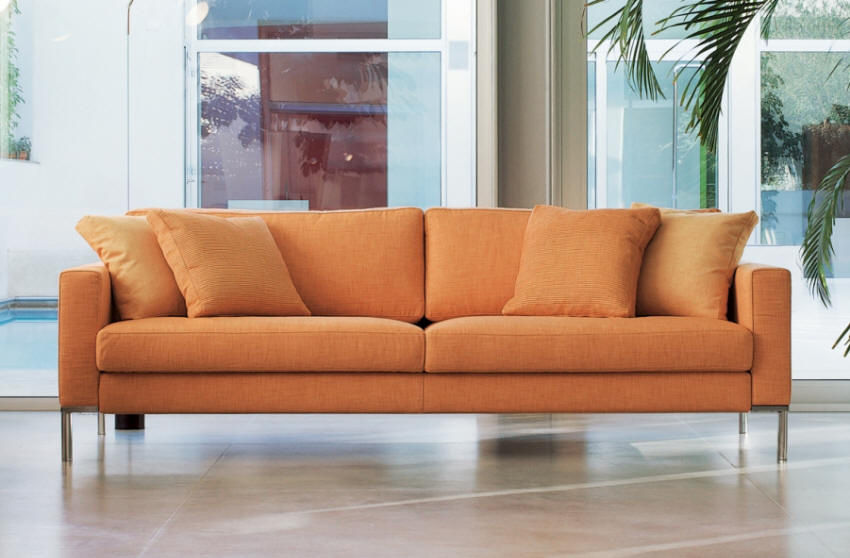 Contemporary Sofa / Fabric / 2 Person / Orange   GINGER By A.Mandelli U0026  W.Selva