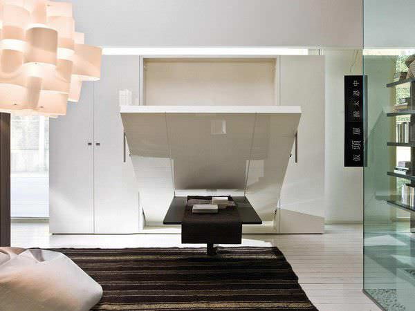 wall bed double contemporary fabric ulisse by giulio manzoni rd clei - Designer Wall Beds