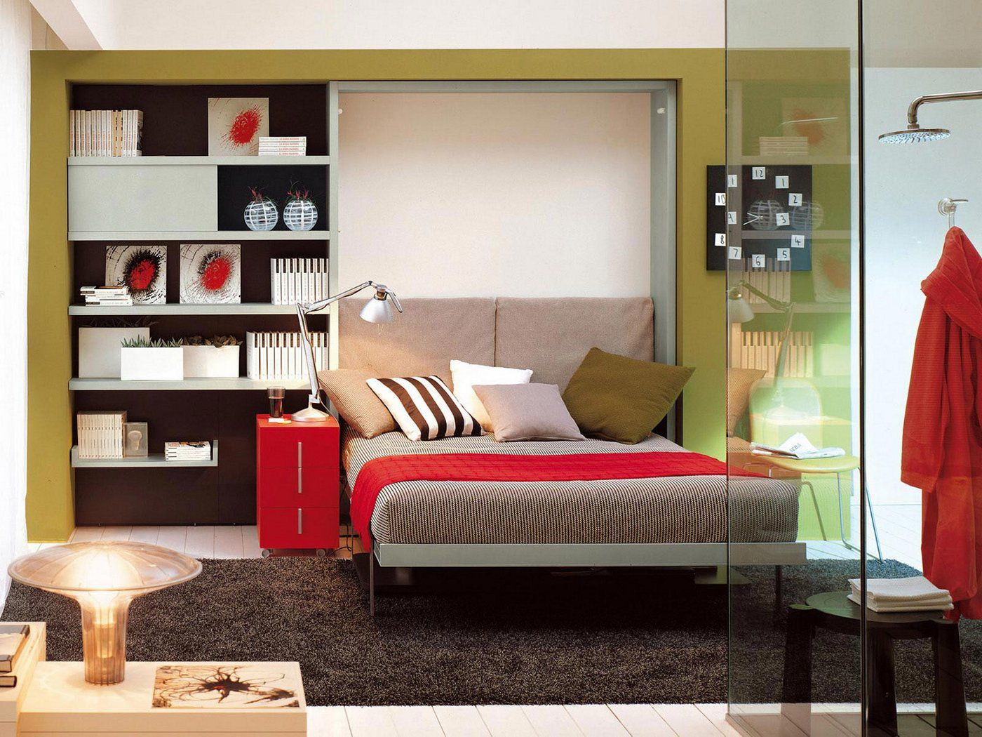 Wall bed single double contemporary ulisse desk by giulio wall bed single double contemporary ulisse desk by giulio manzoni rd clei amipublicfo Images
