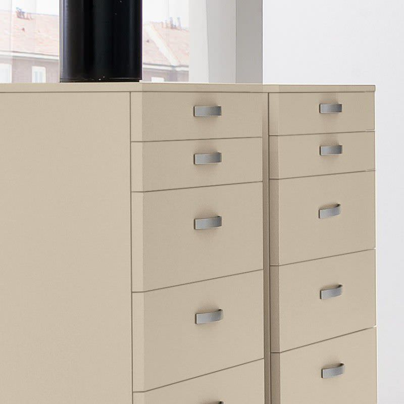 Contemporary Chiffonier Lacquered Wood Beige Start Settimanale
