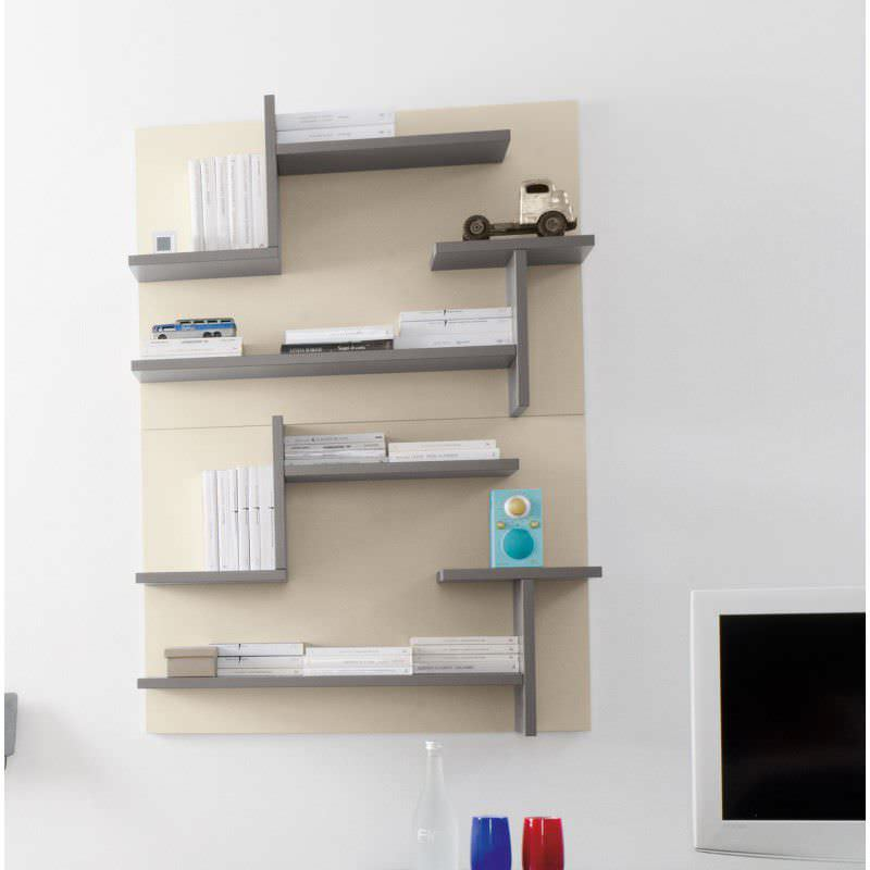 Wall mounted shelf contemporary wooden childs unisex