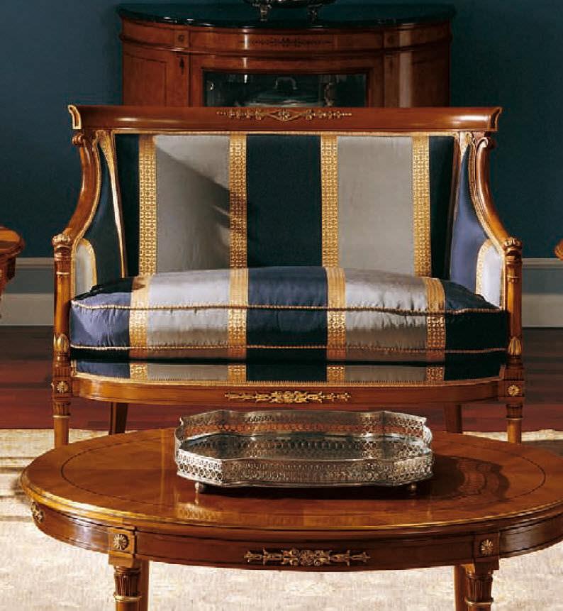 Empire Style Sofa / Cherrywood / 2 Seater / Multi Color   119.P2