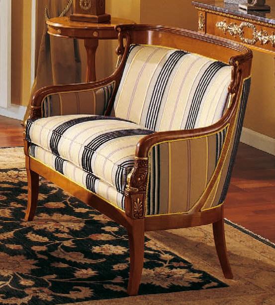 Empire Style Sofa Cherrywood 2 Person Multi Color 159 P2
