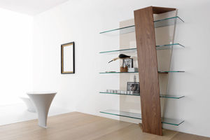 wall mounted shelf contemporary wooden glass book compar rh archiexpo com wood and glass wall shelves wood and glass shelf supports