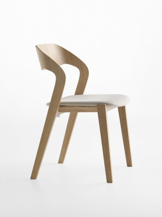 contemporary chair upholstered stacking molded plywood mixis