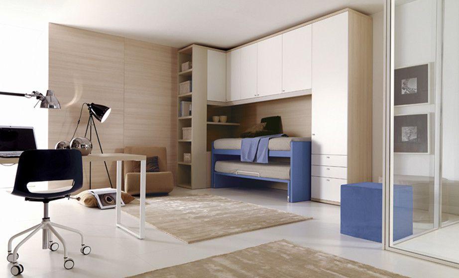 Blue children\'s bedroom furniture set / boy\'s - 205 - Doimo Cityline