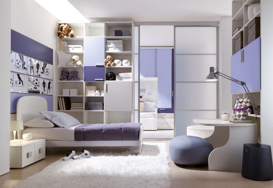 Boy\'s bedroom furniture set / purple - 201 - Doimo Cityline