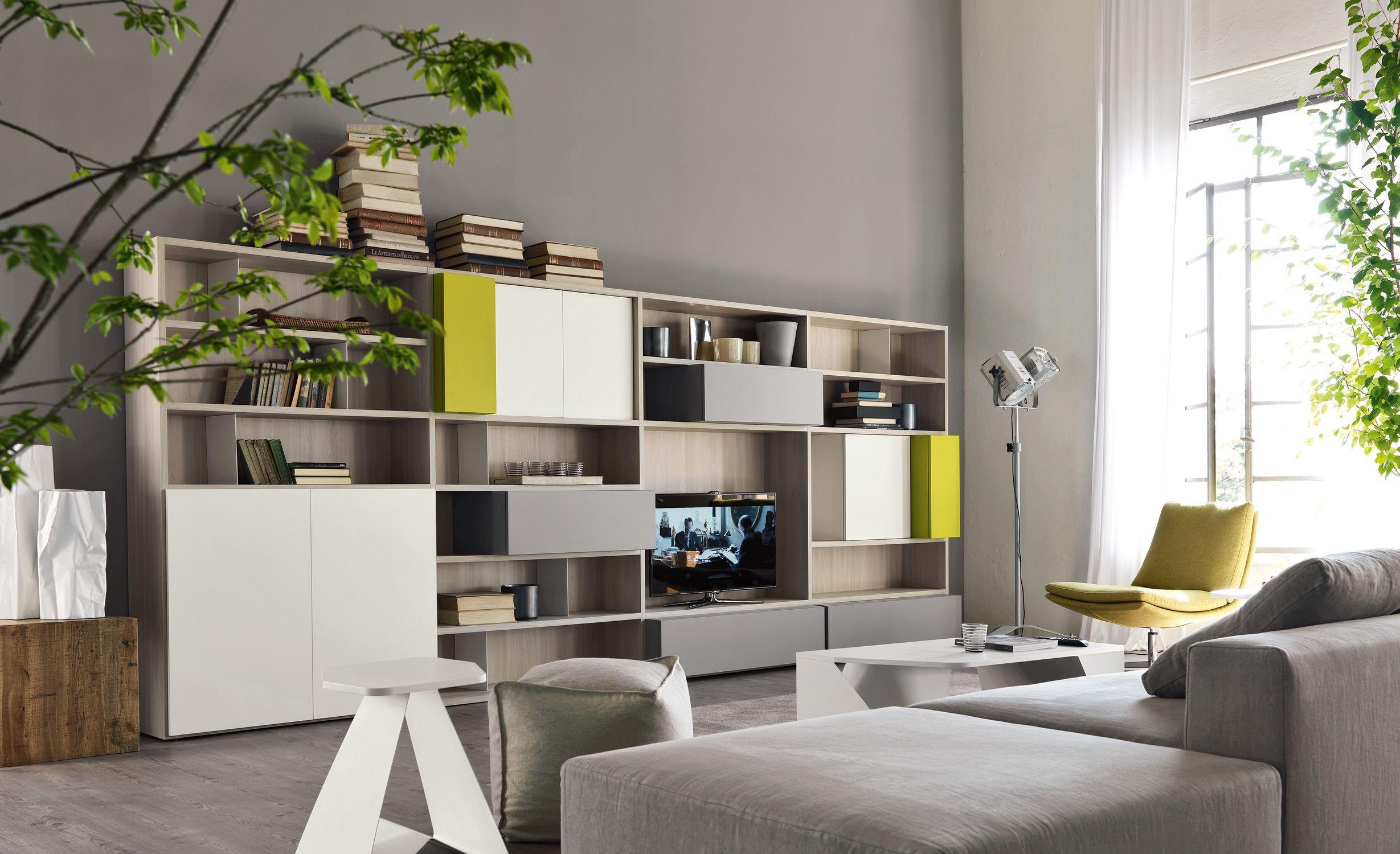 Contemporary TV wall unit / modular - CITYLIFE 16 - Doimo Cityline