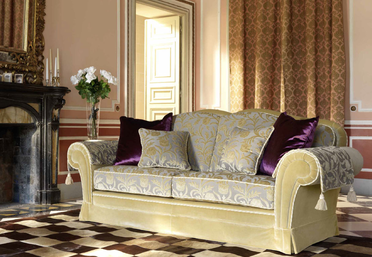 Traditional sofa cottage style cotton 2 seater ARTHUR