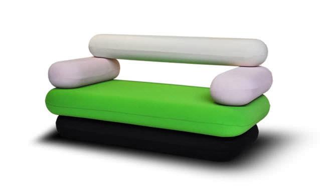 Original design sofa / fabric / by karim rashid / 2 seater   hot ...