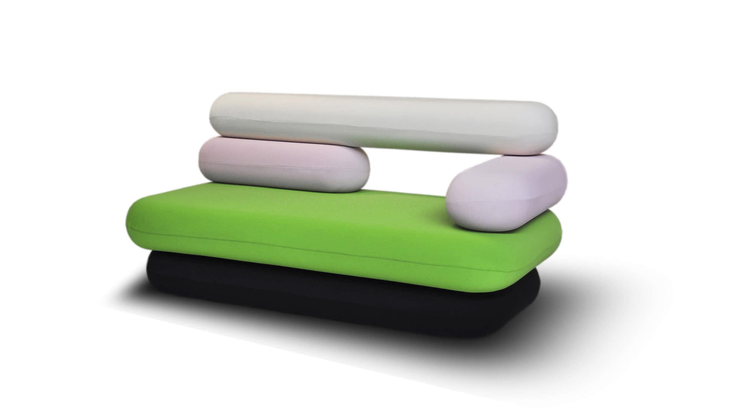 Karim Rashid Furniture Original Design Sofa Fabric By Karim Rashid 2 Seater Hot