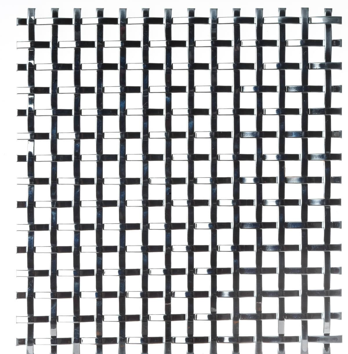 Facade woven wire fabric / stainless steel / brass / square mesh ...