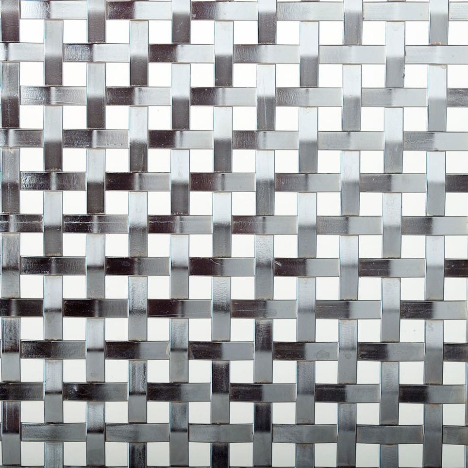 Facade woven wire fabric / stainless steel / square mesh - QUAD 907 ...