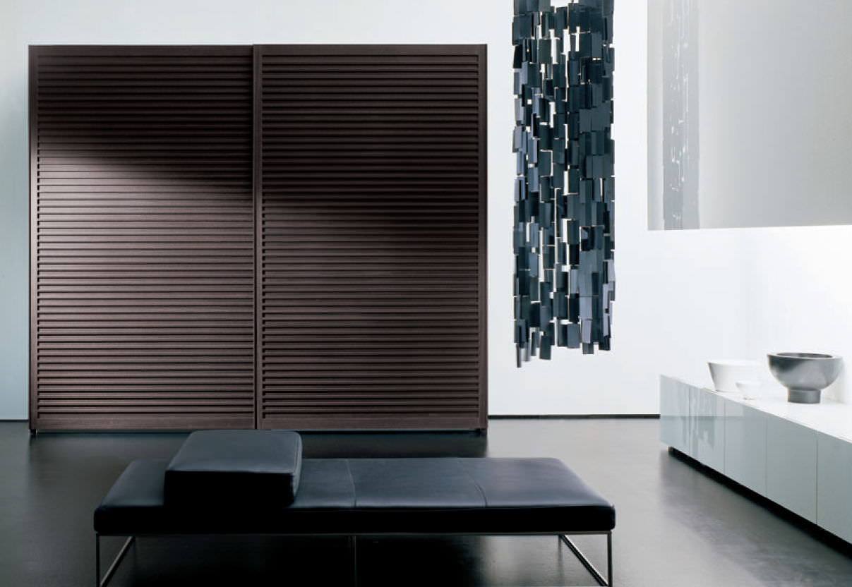 Wood sliding doors - Contemporary Wardrobe Solid Wood Sliding Door Amado By Pietro Arosio