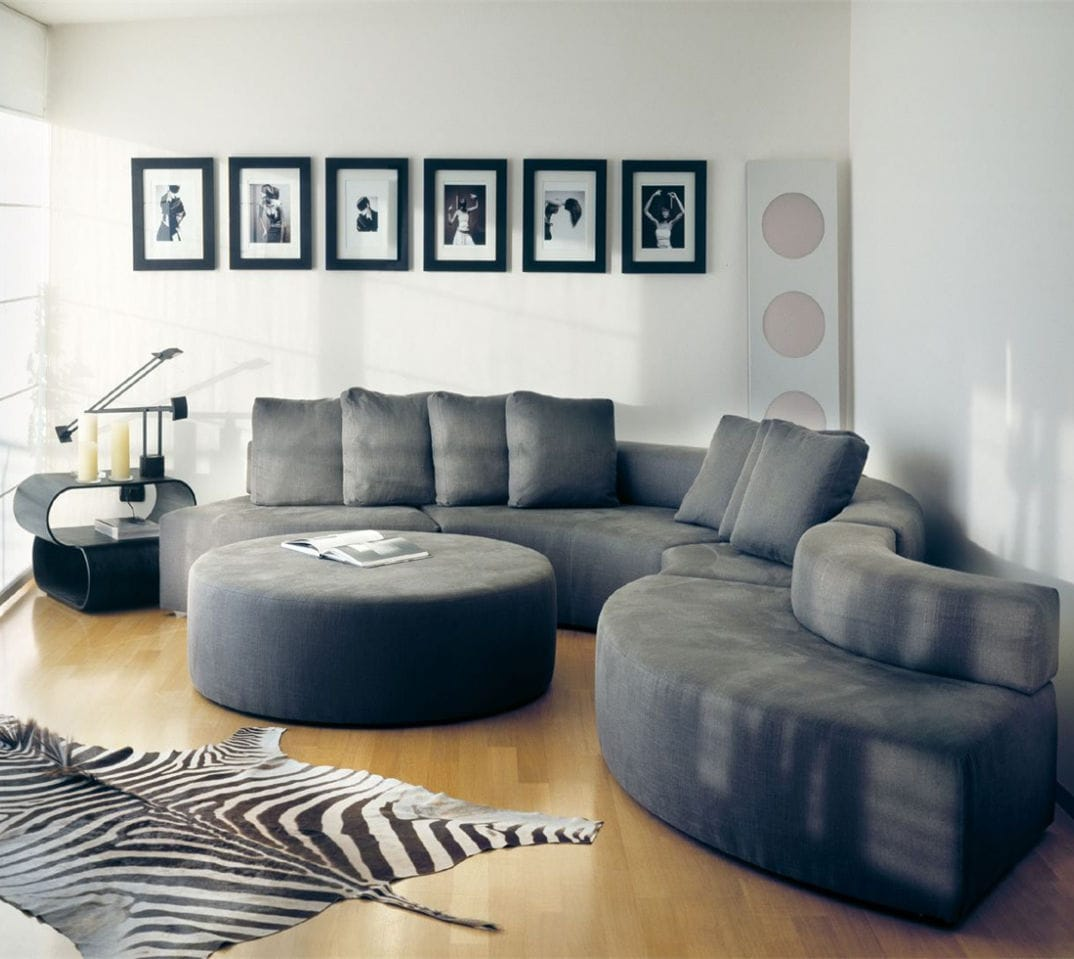 Superbe Modular Sofa / Contemporary / Velvet / Leather   DUNE