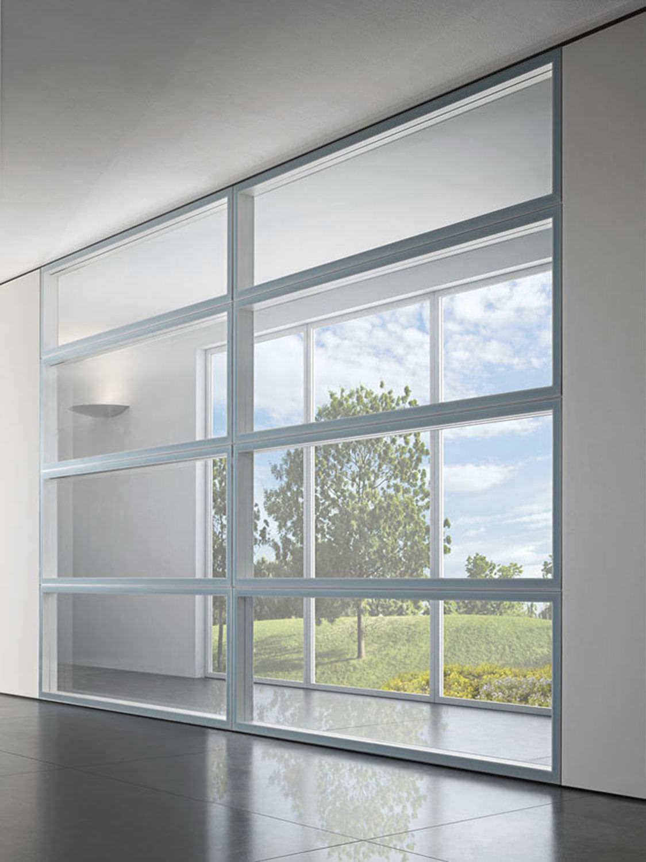 Transparent Aluminium Fixed Partition Aluminum Glazed Professional Walltech By