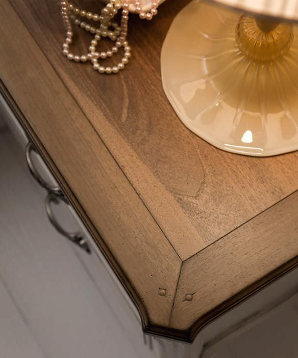 Classic bedside table / marble / rectangular - CEZANNE - F.M. ...
