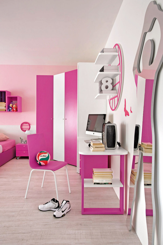 Pink bedroom furniture sets - Girl S Bedroom Furniture Set Pink Sport Volley 2