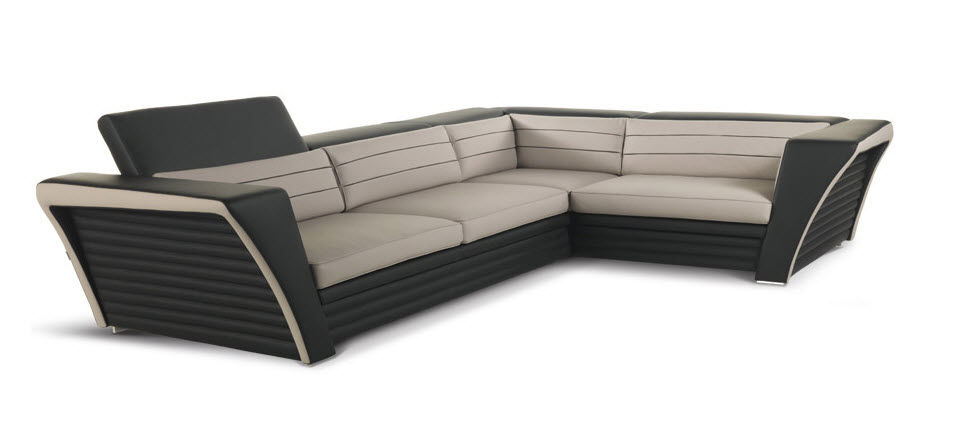 Corner Sofa / Contemporary / Leather / 5 Seater   AVATAR