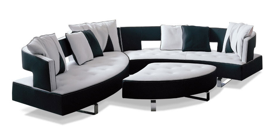 Modular Sofa / Contemporary / Leather / 5-Seater - Heart - Formenti