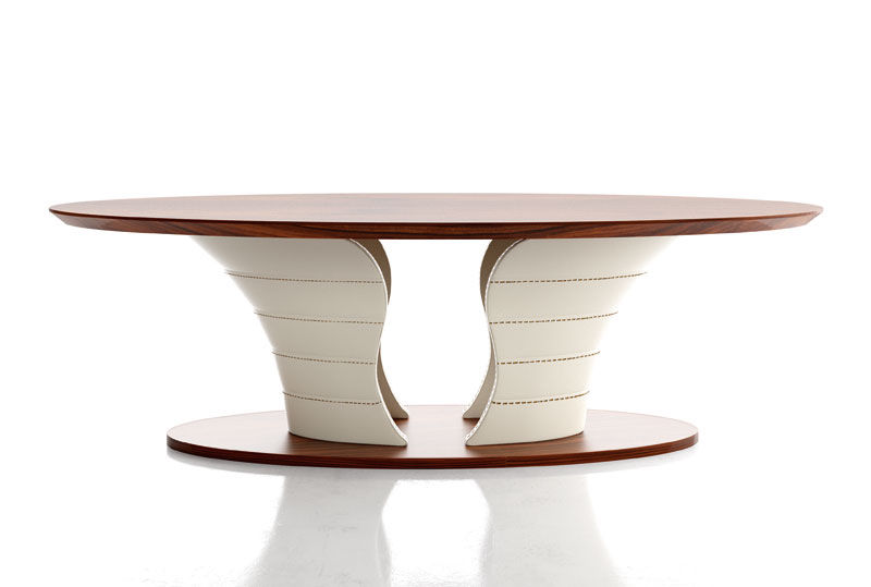 Contemporary Dining Table / Wooden / Oval - Tulip - Formenti