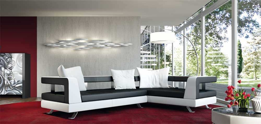 Corner Sofa / Contemporary / Leather / 5 Seater WAVE Formenti ...