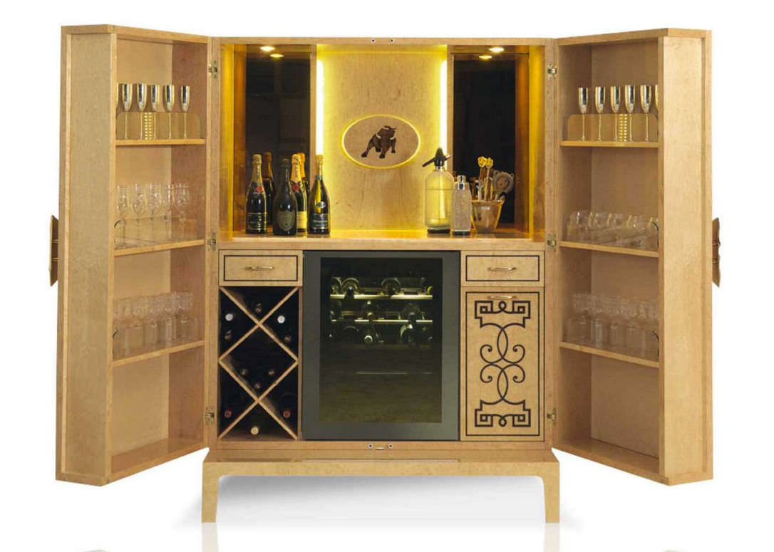 Contemporary bar cabinet / wooden - VOJAGE - Formenti
