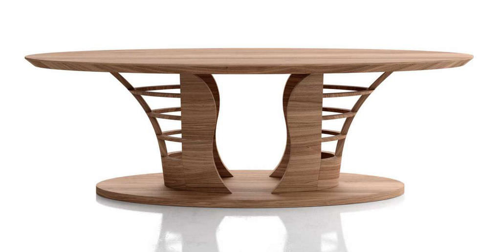 Superbe Contemporary Dining Table / Wooden / Rectangular   SCULPTURE
