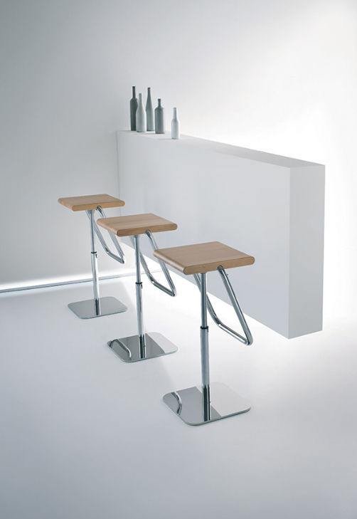 Contemporary Bar Stool / Adjustable JOE By Stefano Sandonà Gaber ...
