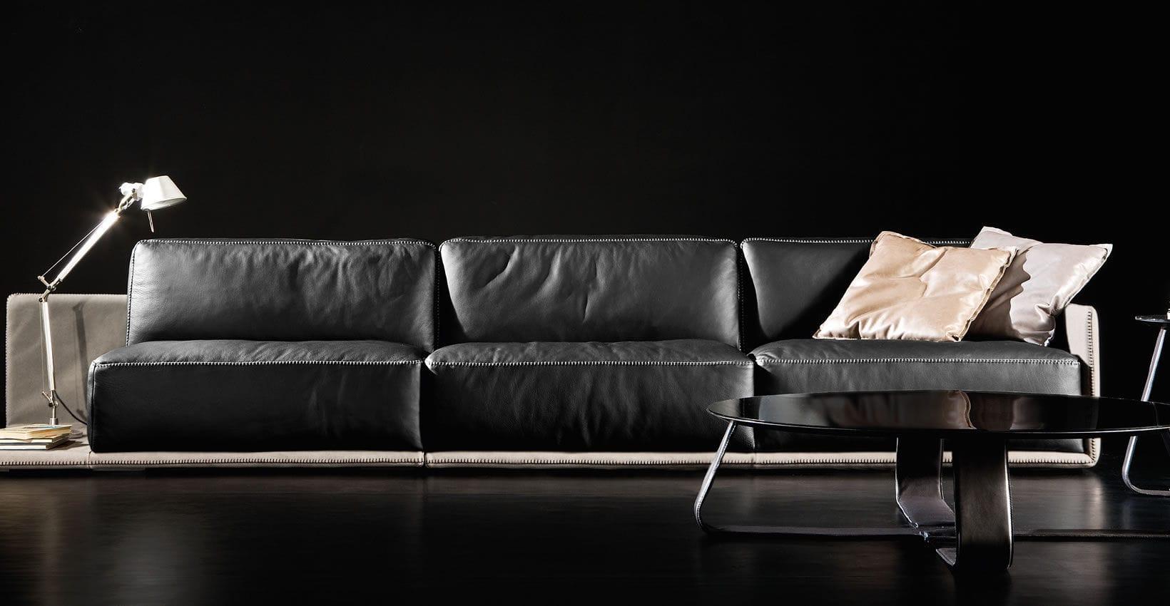 Modular Sofa Contemporary Leather 3 Seater Border