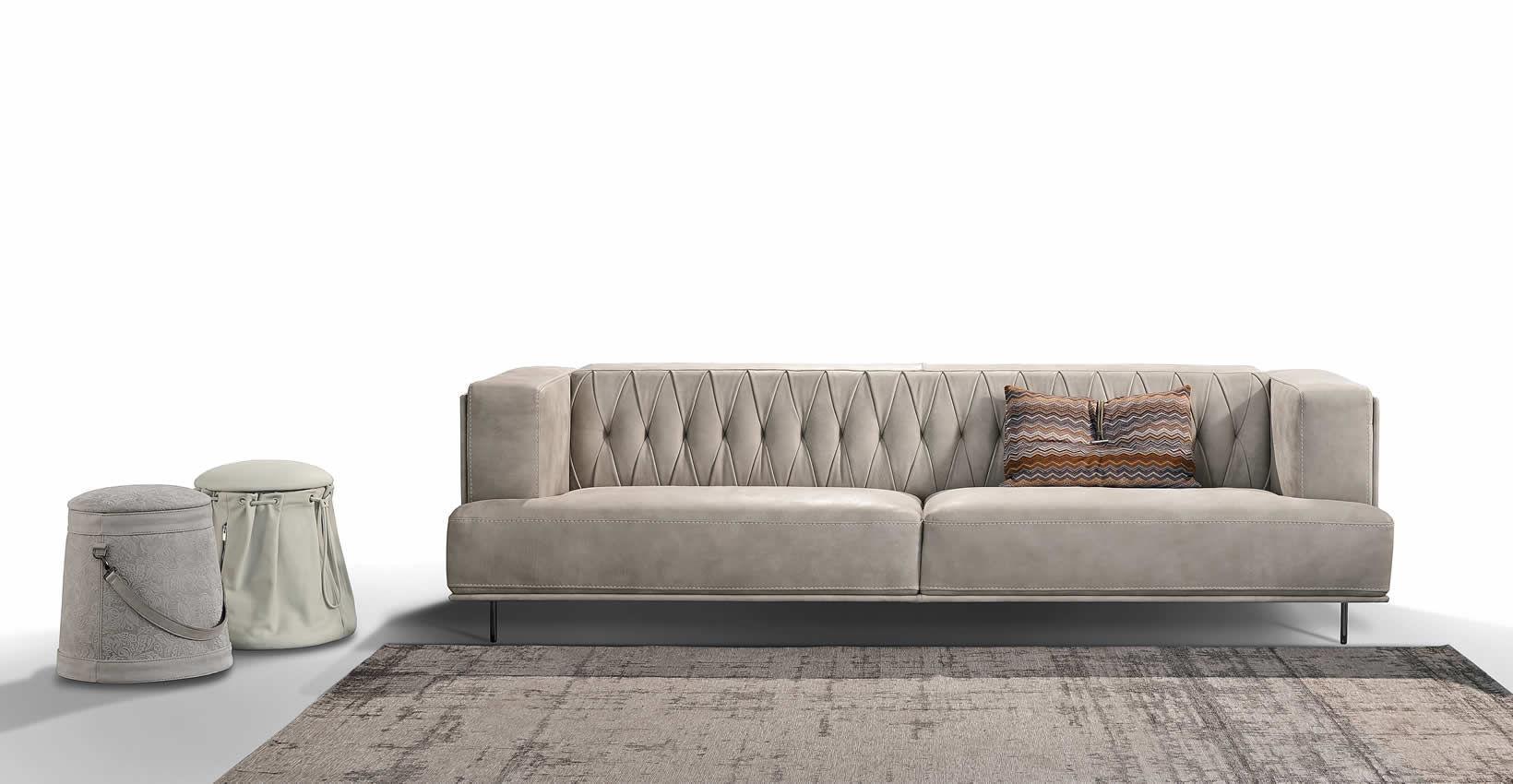 Modular Sofa / Contemporary / Leather / 2 Person ...