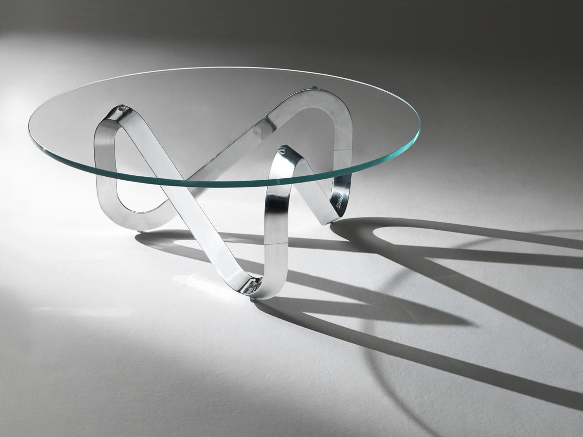 Contemporary Coffee Table / Glass / Round   LIBRA By Claus Bertram