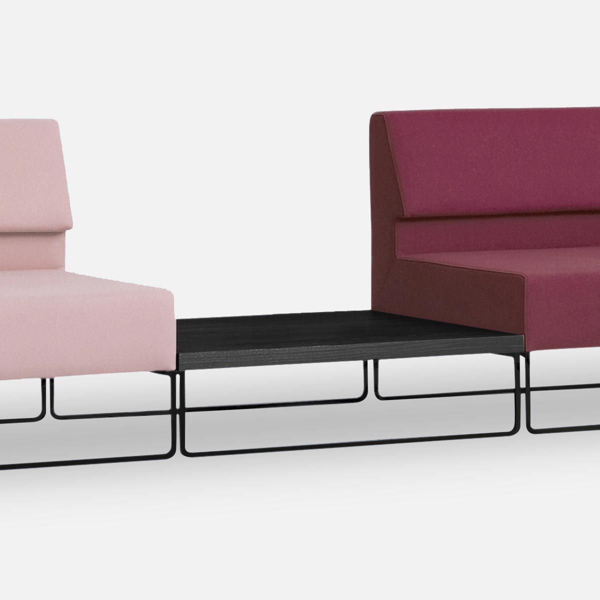 Corner sofa modular contemporary leather COUCH by Morten