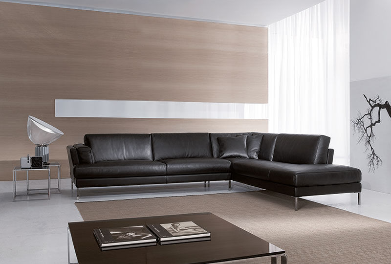 Modular Sofa / Corner / Contemporary / Leather - Fly - Gurian
