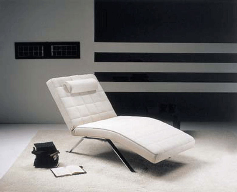 Contemporary chaise longue / leather - CLIO - Gyform
