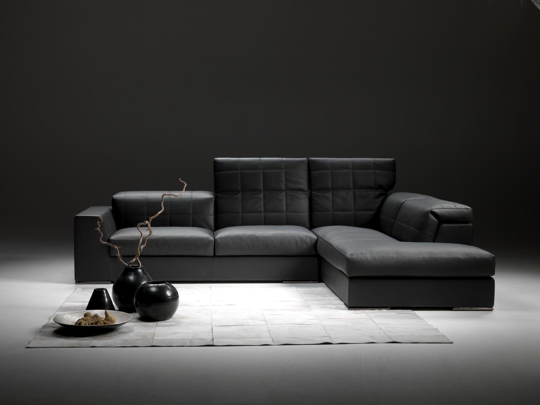Eckcouch Modern corner sofa contemporary leather 4 seater zoe gyform