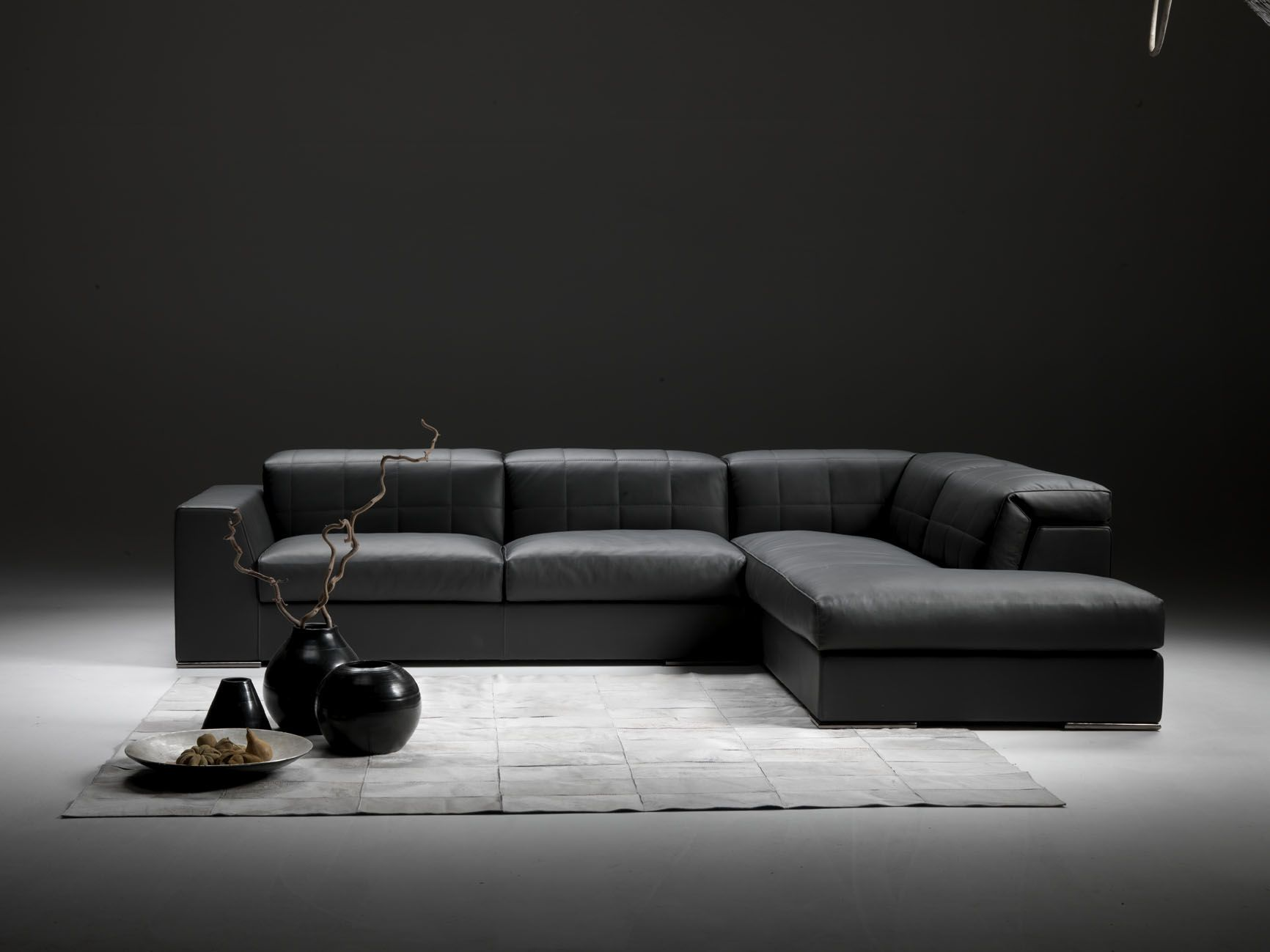 Corner Sofa Contemporary Leather 4 Seater