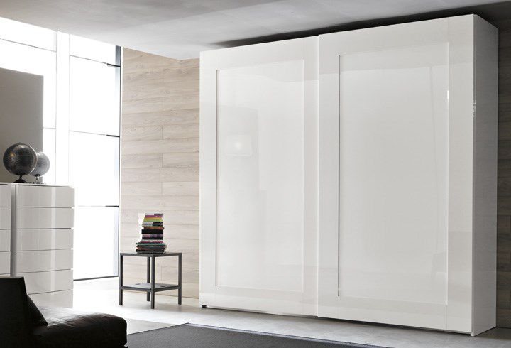 contemporary wardrobe / glass / lacquered glass / sliding door - BELLAGIO  RG0122 & Contemporary wardrobe / glass / lacquered glass / sliding door ...