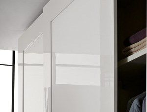 contemporary wardrobe / glass / lacquered glass / sliding door ... & Contemporary wardrobe / glass / lacquered glass / sliding door ...