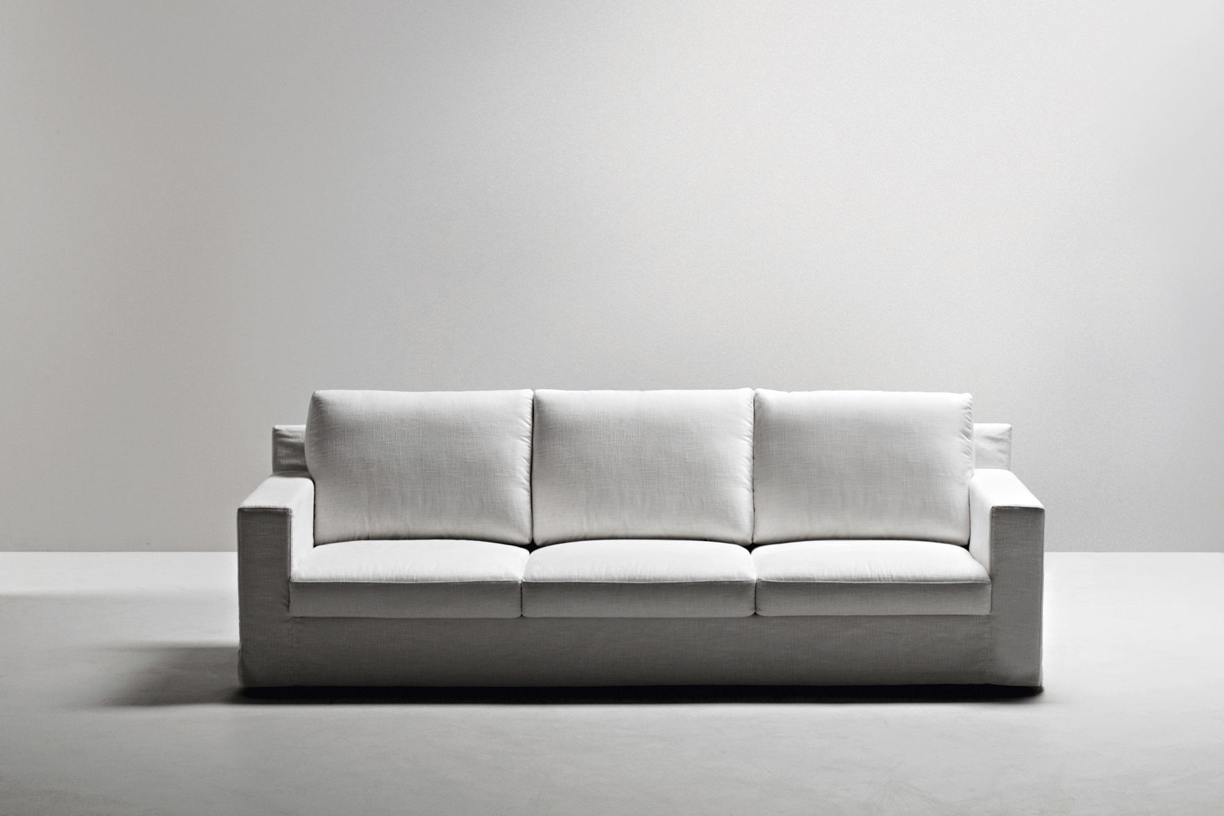 Modular sofa contemporary leather fabric MANHATTAN by LC