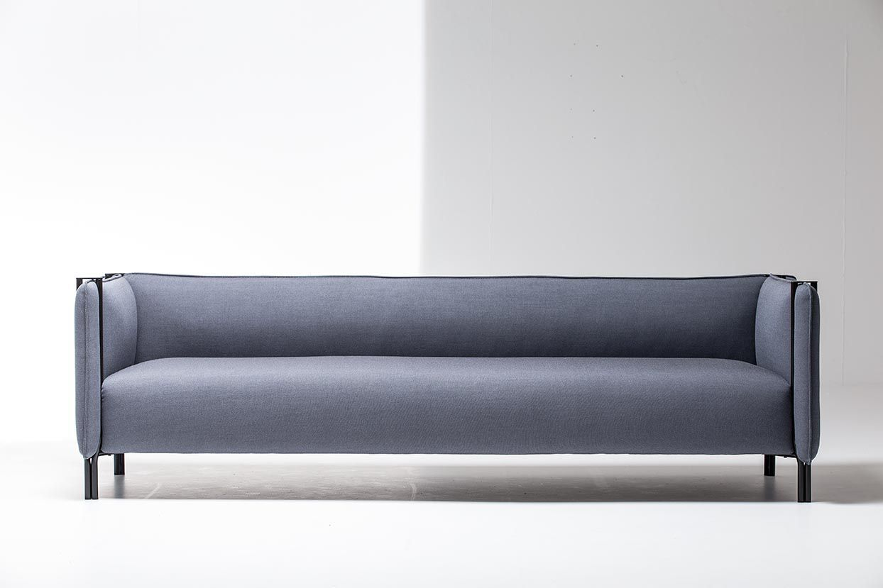 Contemporary Sofa / Fabric / Leather / Metal   PINCH By Skrivo